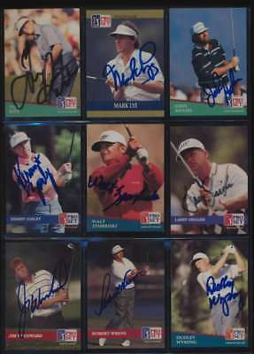 1991 Pro Set Golf lot of 202 cards all Autographed JSA Authenticated 47148
