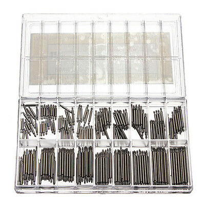 360pcs Stainless Steel Watch Band Spring Bars Strap Link Pins 6-25mm Repair M6D5
