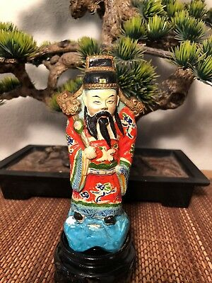 Antique Chinese Porcelain Ceramic -  Wiseman Fuk Figurine SMALL China