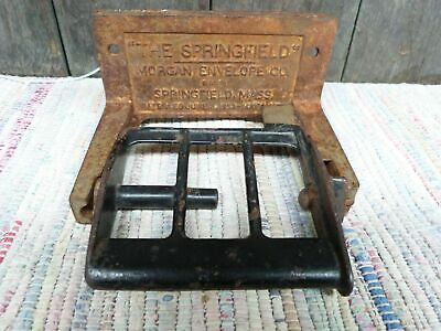 "VINTAGE Antique Industrial TOILET PAPER holder "" The Springfield"" Cast Iron"