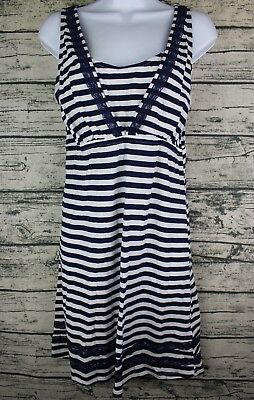 Oh Baby by Motherhood Size M Nursing Nightgown Maternity Striped Tank Dress