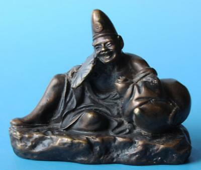 Chinese old fengshui copper hand-carved Jigong Buddha statue d01