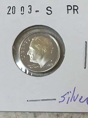 2003 S Proof 90% Silver Roosevelt Dime