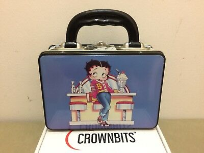 Vtg 1996 Betty Boop Tin Metal Lunch Box King Features Syndicate