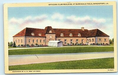 Officers club Building at Barksdale Field Shreveport Louisiana LA Postcard B22