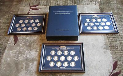 White House Association Presidential Medal Collection 37 Silver Medal Proofs