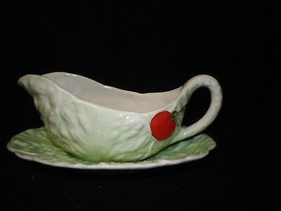 """5"""" Carlton Ware Lobster Pattern Sauce Dish with Platter"""