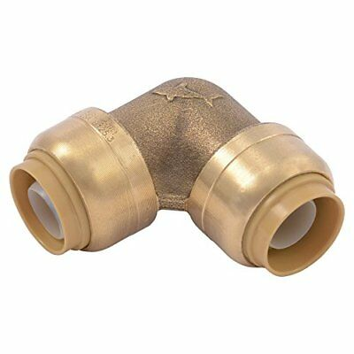 """Authentic SharkBite U248LFA 90 Degree Push-to-Connect Elbow, 1/2"""" inch X 1/2"""" in"""