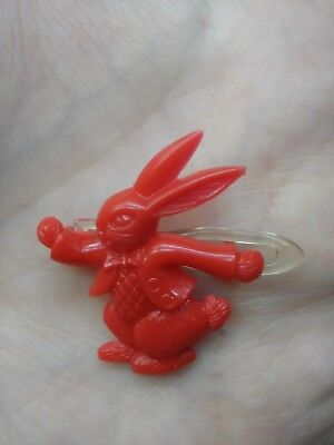 Vintage Red Peter ? Rabbit Hair Clip