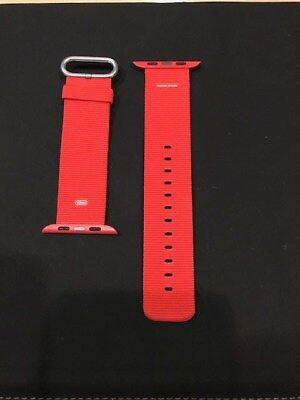 Genuine Apple I-Watch Band, 42Mm, New, Woven Nylon, Red Color, Free Shipping