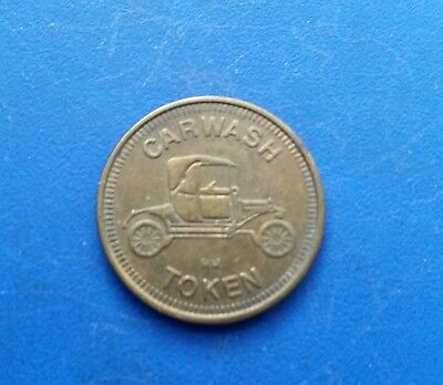 "HH Vintage Car Wash Token Coin 1"" Brass, Model-T, No Cash Value"