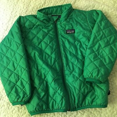 patagonia toddler 3t nanopuff puffball green quilted coat boys girls unisex