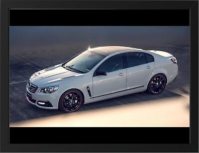 """HOLDEN COMMODORE DIRECTOR WHITE A3 FRAMED PHOTOGRAPHIC PRINT 15.7""""x11.8"""""""