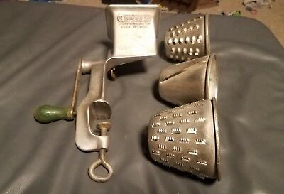True Vintage Griscer Deluxe Food Meat Grinder Grate Counter Top vise Made in USA