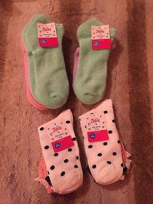 Justice Girls Socks 4 Packages Polkadot And Solid Sz 5-9