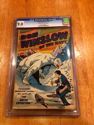 DON WINSLOW of the NAVY #47 (July 1947 Fawcett) CGC 9.0! Cool Polar Bear Cover!