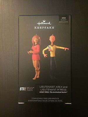 SDCC 2018 Comic Con Hallmark - LIEUTENANT AREX and M'RESS - Star Trek Ornament