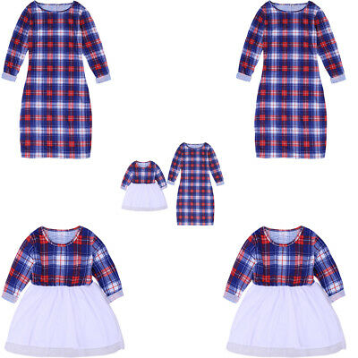 Mother and Daughter Clothes Parent-child dress Family Matching Outfit Plaid