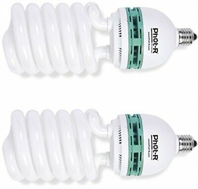 Phot-R 2 X 1000W (200W) 220V 5500K E27 Socket CFL Spiral Continuous Daylight