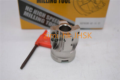 Aluminum AL-400R-125-27-7T indexable face milling cutter 6Flute for APKT1604 1P