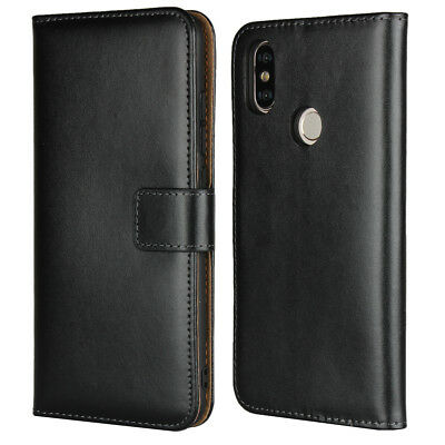 Genuine Leather Wallet Flip Case Cover For Xiaomi Mi A2 (Mi 6X)