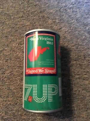 Vintage United We Stand 7up Steel Can West Virginia #48