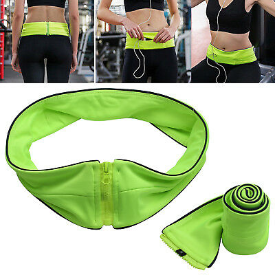 For Mobile Cash Keys Waist Exercise Fitness Running Belt Bag Flip Style Pouch