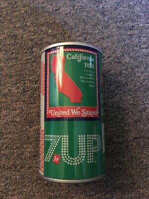 Vintage United We Stand 7up Steel Can California #5