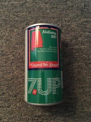Vintage United We Stand 7up Steel Can Alabama #1