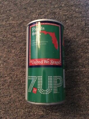 Vintage United We Stand 7up Steel Can Florida #9