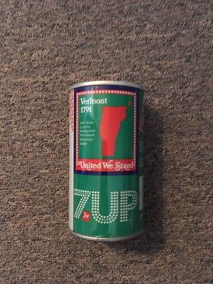 Vintage United We Stand 7up Steel Can Vermont #45