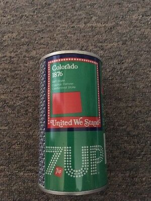Vintage United We Stand 7up Steel Can Colorado #6