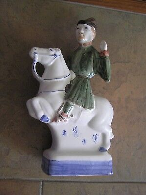 "A Rye Pottery ""canterbury Tales"" Figurine: ""the Merchant"": 9.5"" Tall: Vgc"