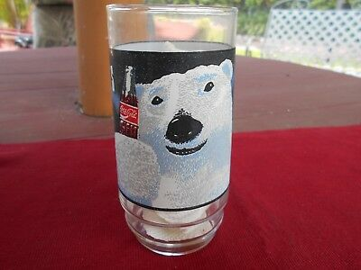 "VINTAGE COCA-COLA - ""ALWAYS COOL"" Polar Bear 5 1/2"" Drinking Glass"