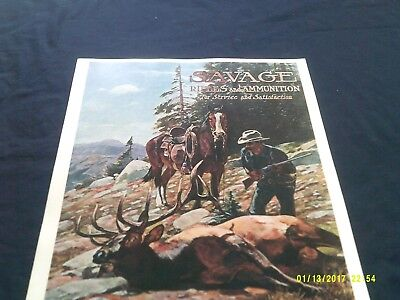 Repro Poster-Savage Rifles & Ammunition for Service & Satisfaction