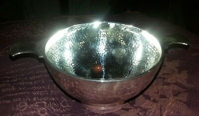 Stunning antique solid silver Quaich (Mappin & Webb)
