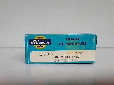 Athearn 1578 40 FT S/D Tank HO Gauge S P Diesel Fuel with Original Instructions