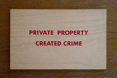 JENNY HOLZER, Private property created crime, Multiple 1994