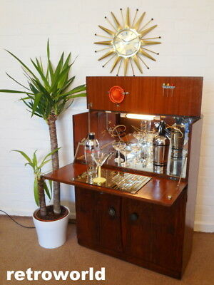 £50 OFF 50s 60s Mid Century Retro Vintage Cocktail Drinks Cabinet Bar Atomic