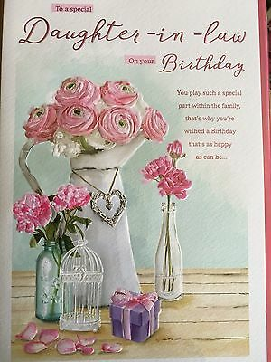 Daughter In Law Birthday Card 335 Picclick Uk