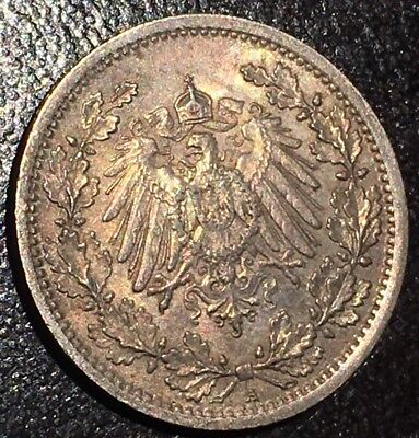 1917A Germany-Empire 1/2 Mark Silver Coin KM#17