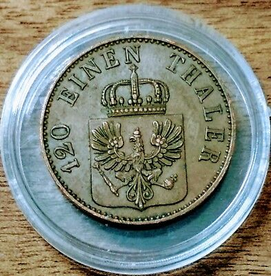 GERMAN STATES/Prussia 1850 3-Pfenning ! EXTRA FINE! KM# 453! NICE TYPE COIN!