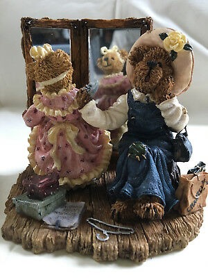 Boyds Bearstone resin figurine, Margaret with Kristen...There Goes the Budget