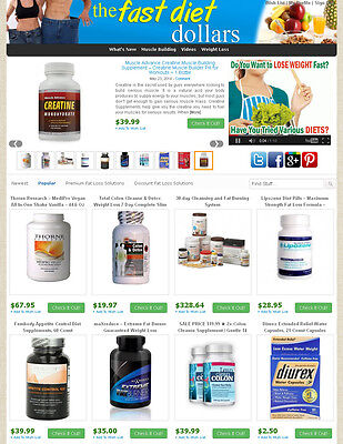eBay, Amazon, Commission Junction Affiliate Website - Weight Loss Products Store