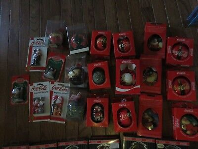 Huge lot of 21 Coca Cola Coke Christmas Ornaments Trim a Tree Collect