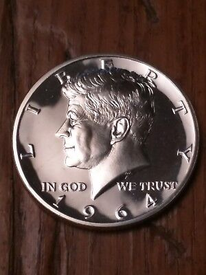 1964 Silver Kennedy Accented Hair  Proof