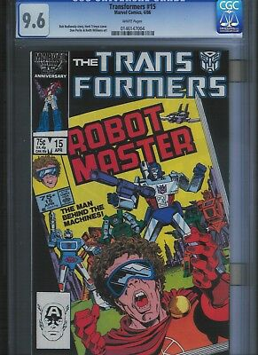 Transformers # 15 CGC 9.6  White Pages. UnRestored.