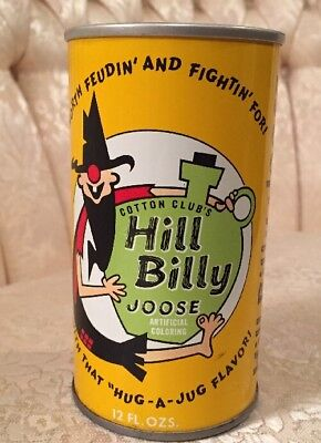 Hill Billy Joose - Pull Top 12oz. - Rare Vintage Soda Pop Soda Can - Unpulled