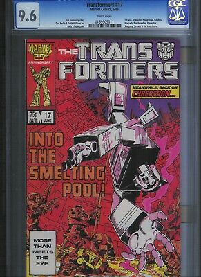 Transformers # 17 CGC 9.6  White Pages. UnRestored.