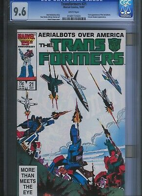 Transformers # 21 CGC 9.6  White Pages. UnRestored.
